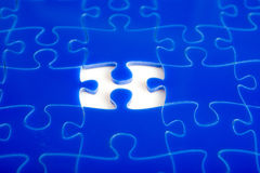 Jigsaw puzzle missing Royalty Free Stock Photography
