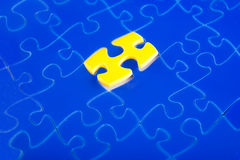 Jigsaw puzzle missing Stock Photos