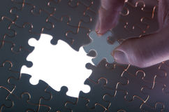 Jigsaw puzzle with missing pieces Royalty Free Stock Photography
