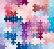Jigsaw puzzle pattern. Dynamic background vector illustration