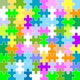 Jigsaw puzzle pattern Stock Image