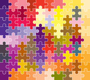 Jigsaw puzzle pattern Stock Photo