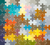 Jigsaw puzzle pattern. In colors vector illustration