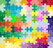 Jigsaw puzzle pattern. Abstract design stock illustration