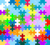 Jigsaw puzzle pattern Royalty Free Stock Photo