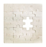 Jigsaw puzzle pattern with missing part Royalty Free Stock Images