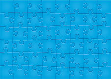 Jigsaw Puzzle Pattern. 48 pieces. Main elements are on separate layers. Easy to change or remove Royalty Free Stock Images