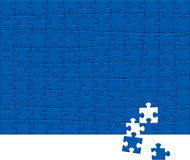 Jigsaw Puzzle Pattern. 108 pieces. Stock Photo