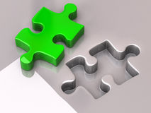 Jigsaw puzzle piece. 3d illustration of jigsaw puzzle piece Royalty Free Stock Image