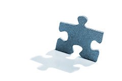 Jigsaw Puzzle Piece in Shape of a Man royalty free stock photography