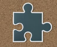 Jigsaw puzzle piece strategy icon Stock Images