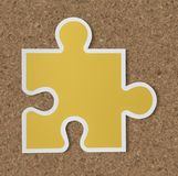 Jigsaw puzzle piece strategy icon Royalty Free Stock Image