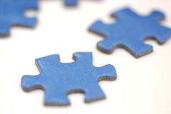 Jigsaw puzzle pieces 1. Jigsaw pieces on a white background stock image
