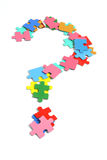 Jigsaw Puzzle Pieces. In Question Mark Stock Photos