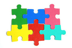 Jigsaw Puzzle Pieces. On White Background Royalty Free Stock Image