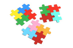 Jigsaw Puzzle Pieces. On White Background Stock Photo