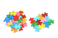 Jigsaw Puzzle Pieces. On White Background Stock Photography