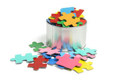 Jigsaw Puzzle Pieces. On White Background Stock Image