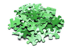 Jigsaw Puzzle Pieces. On White Background Royalty Free Stock Photography