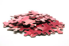 Jigsaw Puzzle Pieces. On White Background Royalty Free Stock Images