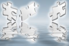 Jigsaw puzzle pieces Stock Photo