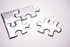 Jigsaw puzzle pieces. Studio shot Royalty Free Stock Image