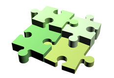 Jigsaw puzzle pieces attached Stock Photos