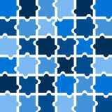 Jigsaw puzzle pieces background  in shades of blue Stock Photography