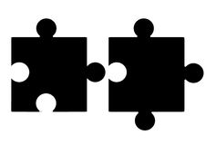 Jigsaw puzzle pieces - blank Royalty Free Stock Photos