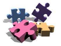 Jigsaw puzzle pieces concept Royalty Free Stock Images