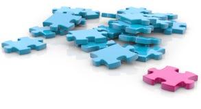 Jigsaw puzzle royalty free illustration