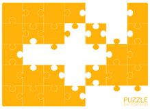 Jigsaw puzzle 24 pieces, without some pieces stock illustration