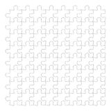 Jigsaw puzzle pieces on white background, isolated white jigsaw Royalty Free Stock Photo