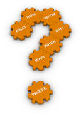 Jigsaw puzzle question mark Stock Photos