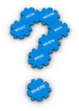 Jigsaw puzzle question mark Stock Image
