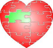 Jigsaw puzzle red heart Royalty Free Stock Image