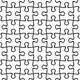 Jigsaw puzzle seamless background. Vector illustration. Royalty Free Stock Image