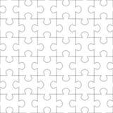 Jigsaw puzzle seamless pattern. Stock Photography