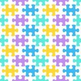 Jigsaw puzzle seamless pattern Stock Image