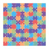 Jigsaw puzzle set of 100 colorful pieces. In vector Vector Illustration