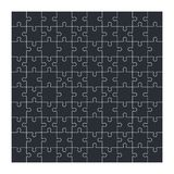 Jigsaw puzzle set of 100 pieces. Vector illustration Royalty Free Stock Images