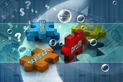 Jigsaw puzzle. Showing business content Royalty Free Stock Photos