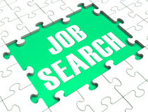 Jigsaw Puzzle Shows Job Search Royalty Free Stock Photo
