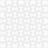 Jigsaw puzzle, sixty-four blank shapes Stock Photos