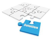 Jigsaw puzzle solution Royalty Free Stock Images