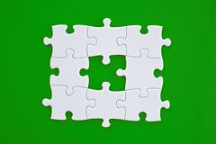 Jigsaw Puzzle Solution Stock Image