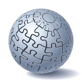 Jigsaw puzzle sphere. All Parts Together. Vector illustration Stock Image