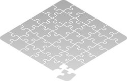 Jigsaw Puzzle Square. Illustration of jigsaw puzzle...in the file the pieces are independent of each other for ease in adaptation stock illustration