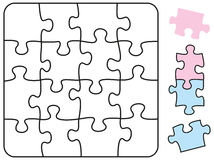 Jigsaw Puzzle Square Stock Photo
