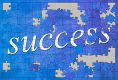 Jigsaw puzzle success Stock Photos